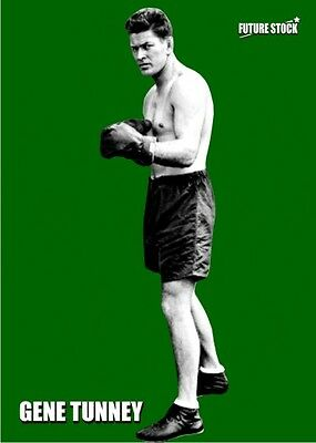 Gene Tunney Future Stock Boxing Card - Emerald Variation - Limited Serial 5/7