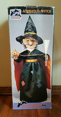 Original Motionettes Halloween Illuminated Animated Witch Lighted Telco Battery