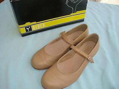 BLOCH, Ladies/Older Girls Tan Leather Tap Shoes Size 6.5 EXCELLENT CONDITION