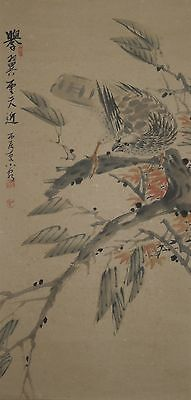 Hanging Scroll Chinese Painting Hawk 金浩性 Jin Haoxing China Old Ink Antique d10