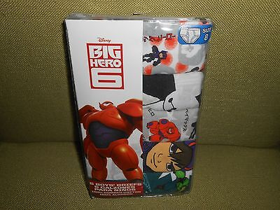"""!!! Great Deal On 5 Pair Of Boy's Size 8 """"big Hero 6"""" Briefs !!!"""