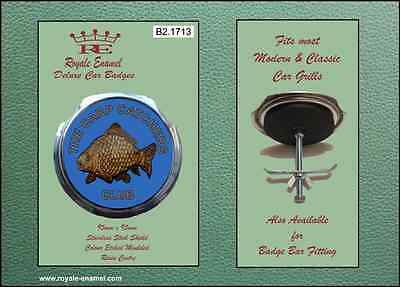 Royale Car Grill Badge & fittings - FISHING THE CARP CATCHERS CLUB - B2.1713