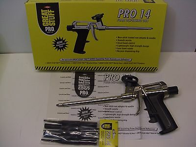 Genuine Great Stuff Pro 14 Foam Dispensing Gun Bonus 10 Applicator Tips 230409