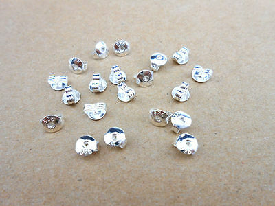 50pcs (25 Pairs) 5mm 925 Sterling Silver Butterfly Earring Backs