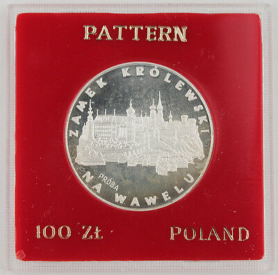 1977 POLAND PROBA 100 Zlotych NA Wawelu Proof Silver Coin in CASE PR#309