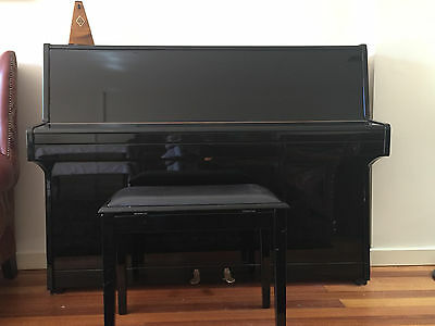 Zimmermann upright piano in good condition (incl stool and metronome)