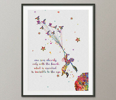 The Little Prince and Birds Quote Le Petit Prince French inspirational Print Art