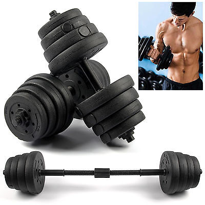 2X Weights Dumbbell Set Gym Workout Fitness Biceps Exercise Training 30KG