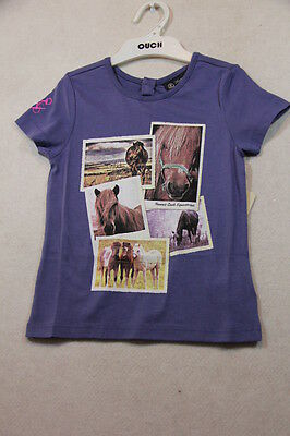 Girls Size 4,6,8 Thomas Cook  Summer Steel Blue Top With Graphics NWT