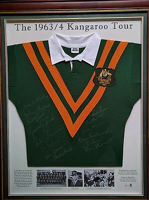 Rugby League Signed Jersey 1963/4 Kangaroos tour **Limited Edition No: 35/63**