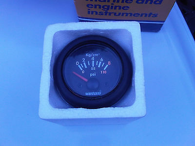 24v Vetus Oil Pressure Gauge Narrow Canal Boats Yacht Marine Camper Project