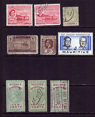 MAURITIUS from 1897 INLAND REVENUE FISCALS mix STAMPS used