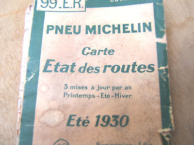 Vintage Michelin Map Original French 1930's South Of France
