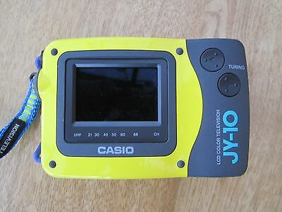 Rare Casio JY-10 Colour Portable Pocket LCD TV, Analogue Tuner - Yellow