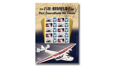 The 75th Anniversary of the First Transatlantic Air service . Signed