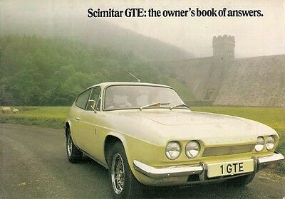 Reliant Scimitar GTE 1973-75 UK Market Sales Brochure