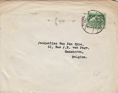 E 1615 Iraq  Baghdad  3f unsealed rate to Belgium  1946 cover transit istanbul