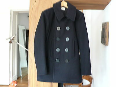 The Real McCoy's THE REAL MCCOY'S U.S. NAVY PEA COAT / Size 38 / Navy