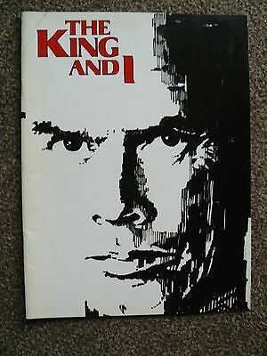 THE KING AND I Souvenir Picture Brochure 1979 West End Revival inc ticket stub