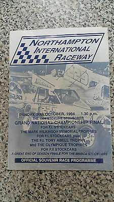 Brisca F1 Stock Car Northampton Programme October 1994