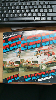 BRISCA F1 STOCK CAR LONG EATON STADIUM PROGRAMME x 2 1985