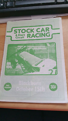 Brisca F1 Stock Car Blackburn Stadium Programme October 1983