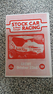 Brisca F1 Stock Car Long Eaton Programme October 1983