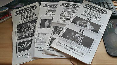 BRISCA F1 STOCK CAR SHEFFIELD STADIUM PROGRAMME x 4 1983