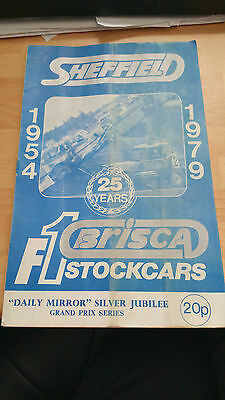 Brisca F1 Stock Car Sheffield Stadium Programme September 1979