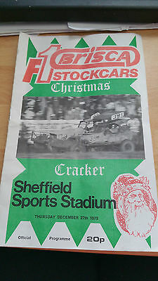 Brisca F1 Stock Car Sheffield Stadium Programme 27Th December 1979