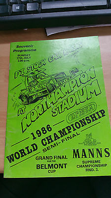 Brisca F1 Stock Car Northampton Stadium Programme July 1986