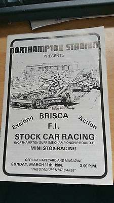 Brisca F1 Stock Car Northampton Stadium Programme 1984