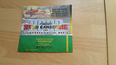Brisca F1 Stock Car Coventry Stadium September 2002 Ticket