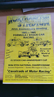 Brisca F1 Stock Car Northampton Stadium Programme 1985