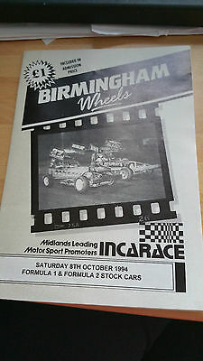 Brisca F1 Stock Car Birmingham  Stadium Sunday October 1994