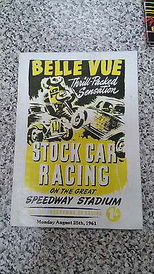 Brisca F1 Stock Car Belle Vue Programme 1986
