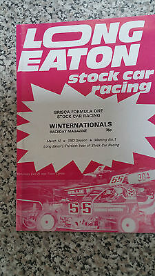 Brisca F1 Stock Car Long Eaton Programme 1983