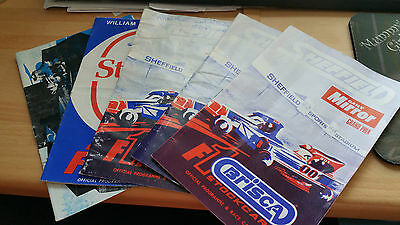 BRISCA F1 STOCK CAR SHEFFIELD STADIUM PROGRAMME x 5 1980
