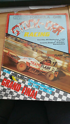 Brisca F1 Stock Car Coventry Stadium Programme September 1986