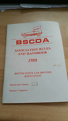 Brisca F1 Stock Car Association Rules And Handbook 1988
