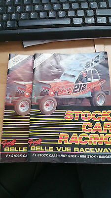 BRISCA F1 STOCK CAR BELLE VUE STADIUM PROGRAMME x 2 1987