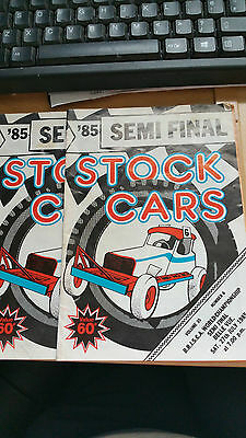 Brisca F1 Stock Car Belle Vue Stadium Programme 1985