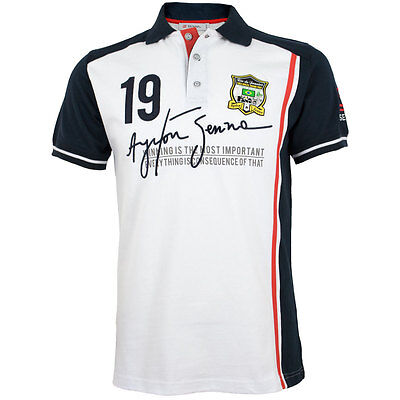 Ayrton Senna Polo-Shirt No 19