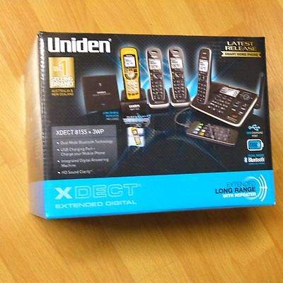 Uniden Xdect 8155+3 Digital Cordless Phone Bluetooth Usb Charging Phone System