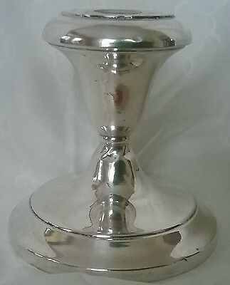 Sterling Silver Candle Stick Candlestick Reinforced With Cement