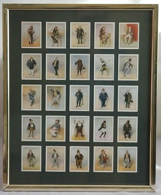"""Mounted """"Copes - Charles Dickens"""" cigarette cards"""