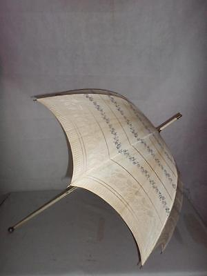 *Antique Ladies Champagne Parasol with Silver Top Hallmarked London 1903*