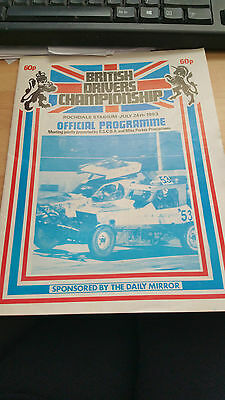 Brisca F1 Stock Car Rochdale Stadium Programme July 1983