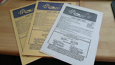Brisca F1 Stock Car Race Card 1983