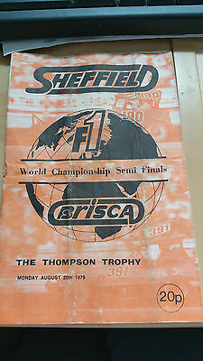 Brisca F1 Stock Car Sheffield Stadium Programme August 1979